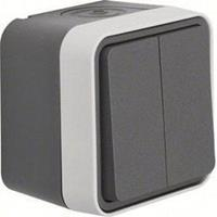 Berker 50753515 - Push button 2 make contacts (NO) grey 50753515