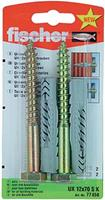 Fischer 77858 Universele deuvel met zeskantschroef Nylon (Ø x l) 12 mm x 70 mm 1 set