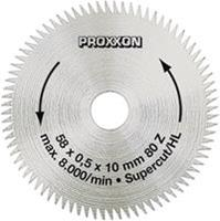 CirkelzaagbladØ58 mm Proxxon Micromot 28 014 Diameter:58 mm Aantal tanden:80