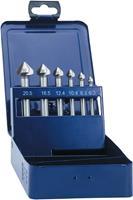 Kegelverzinkboor set 6-delig 6.3 mm, 8.3 mm, 10.4 mm, 12.4 mm, 16.5 mm, 20.5 mm HSS Eventus 05540 Cilinderschacht 1 set