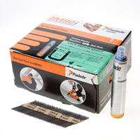 Paslode stripspijker glad blank 2.8 x 63mm inclusief gas IM90 doos met 3750 spijkers
