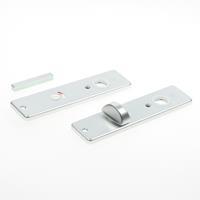 Hoppe Kortschild, aluminium 202kp wc8x72 zilver