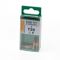 Spax Bit TX25 oranje blister van 5 bits
