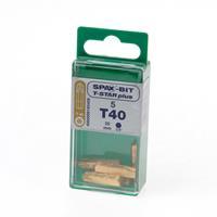 Spax Bit TX40 goud blister van 5 bits
