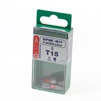 Spax Bit TX15 rood blister van 5 bits