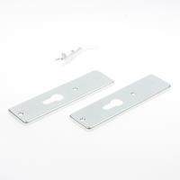 Hoppe Kortschild, aluminium 202kp zonder krukgat/pc-55 zilver