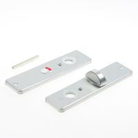 Hoppe Kortschild, aluminium 202kp wc 5x57 zilver