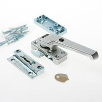 Axa Raamsluiting met nok drukknop afsluitbaar rechts smalle opbouw sluitkom F1 3320-51-11/E