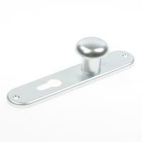 Hoppe Knopkortschild, aluminium 53/273KP, F1 PC55