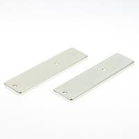 Hoppe Kortschild, aluminium, zonder krukgat, geheel blind 202kp/bl