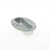 Ruro Schuifdeurkom ijzer gegoten gegalvaniseerd 1 delig 105mm