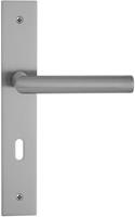 Entra Deurkruk Alba RVS, krukstel op vierkant langchild, sleutelgat 56mm