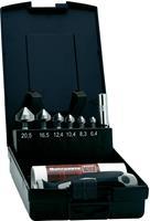 Kegelverzinkboor set 8-delig 6.3 mm, 8.3 mm, 10.4 mm, 12.4 mm, 16.5 mm, 20.5 mm HSS Exact 1605649 1/4 (6.3 mm) 1 set