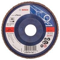 Bosch 2608607361 Lamellenschuurschijf Best for Metal - K40 - 115mm - Vlak