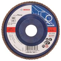 Bosch 2608607363 Lamellenschuurschijf Best for Metal - K80 - 115mm - Vlak