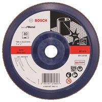 Bosch 2608607344 Lamellenschuurschijf X571 Best for Metal - K80 - 180mm - Recht