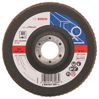 Bosch 2608607355 Lamellenschuurschijf Best for Metal - K80 - 125mm - Vlak