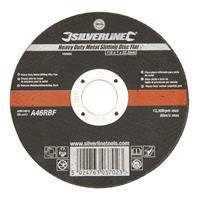 Silverline Heavy-Duty' metaal snijschijf, plat 115 x 1,2 x 22,23 mm