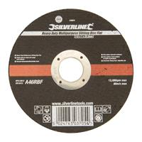 Silverline UniverseleHeavy-Duty' snijschijf, plat 115 x 1 x 22,23 mm