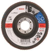 Bosch 2608605451 Lamellenschuurschijf Best for Metal - K60 - 115mm - Haaks