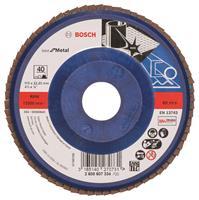 Bosch 2608607334 Lamellenschuurschijf X571 Best for Metal - K40 - 115mm - Recht