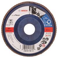 Bosch 2608607336 Lamellenschuurschijf X571 Best for Metal - K80 - 115mm - Recht