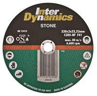 Interdynamics Diamantdoorslijpschijf 115 x 22,23 x 3mm steen