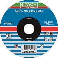Hitachi 752511 Vlak model A24R doorslijpschijf - 115 x 22,23 x 2,5mm - metaal