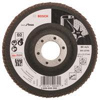 Bosch 2608608268 Lamellenschuurschijf X581 Best for Inox - K60 - 115mm - Recht