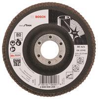 Bosch 2608608269 Lamellenschuurschijf X581 Best for Inox - K80 - 115mm - Recht