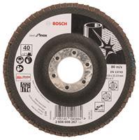 Bosch 2608608267 Lamellenschuurschijf X581 Best for Inox - K40 - 115mm - Recht
