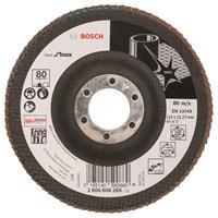 Bosch 2608608265 Lamellenschuurschijf X581 Best for Inox - K80 - 115mm - Haaks