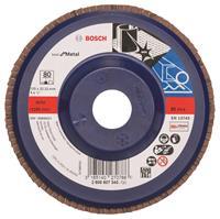 Bosch 2608607340 Lamellenschuurschijf X571 Best for Metal - K80 - 125mm - Recht