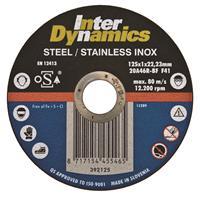 Interdynamics Doorslijpschijf 115 x 22,23 x 1mm RVS inox - 25 stuks