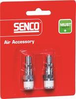 """Senco 4000060 Plug type 300 compatible - buitendraad NPT 1/4"""" - (2st)"""