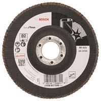 Bosch 2608607640 Lamellenschuurschijf X581 Best for Inox - K80 - 125mm - Haaks