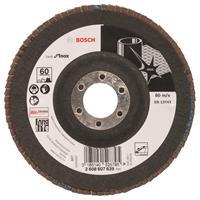 Bosch 2608607639 Lamellenschuurschijf X581 Best for Inox - K60 - 125mm - Haaks