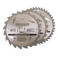 Silverline Tct Cirkelzaagblad 20, 24, 40 Tanden, 3 Stuks (184 X 30 - 20 En 16 mm Ringen)