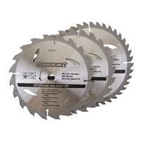 Silverline Tct Cirkelzaagblad 20, 24, 40 Tanden, 3 Stuks (190 X 16 mm - Geen Ringen)