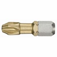 """FACOM Bit 1/4"""" L25mm voor Phillips schroeven - titanium PH1"""