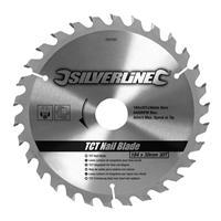 Silverline Tct Spijker Cirkelzaagblad, 30 Tanden (184 X 30 - Geen Ringen)