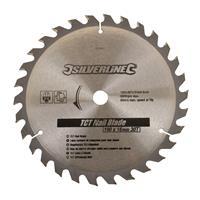 Silverline Tct Spijker Cirkelzaagblad, 30 Tanden (190 X 16 - Geen Ringen)