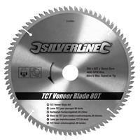 Silverline Tct Fineer Cirkelzaagblad, 80 Tanden (250 X 30 - 25, 20 En 16 mm Ringen)