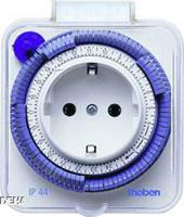 Theben TIMER 26-IP44 ws - analogue socket switch clock TIMER 26-IP44 ws