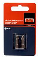 "Bahco 61H/PH2-2P 1/4"" Philips Bit Extra hard PH2 - 25 mm (2st)"