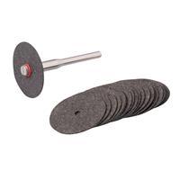 Silverline 18-delige metaal snijschijven set 22 mm dia.
