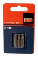 Bahco 59S/PZ1-3P Bits - Pozidrive - PZ1 x 25mm (3st)
