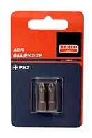 "Bahco 64A/PH1-2P 1/4"" Philips Bit ACR-gecoat PH1 - 25 mm (2st)"