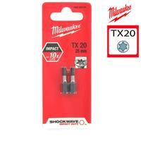 Milwaukee 4932352441 / 4932430874 Shockwave impact duty schroefbit TX 20 - 25mm (2st)