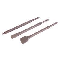 Silverline 3-delige SDS-Plus beitel set met zeskant schacht 250 mm - 20, 40 mm en punt